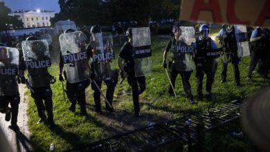 trump-als-protest-gegen-george-floyds-tod-vor-dem-weissen-haus-in-den-bunker-gebracht;-40-staedte-unter-ausgangssperre